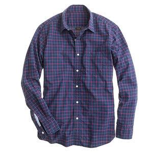 J Crew Men Plaid Button Front Shirt Blue Size XL